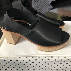 New Cos black leather heels size 40